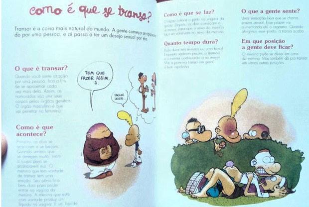 """Reprodução do Facebook mostra páginas do livro """"Aparelho Sexual e Cia - Um guia inusitado para crianças descoladas"""".  (Foto: Reprodução/Facebook)"""