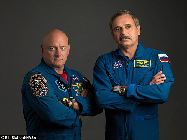 In March of this year, Nasa astronaut Scott Kelly (left) and Roscosmos cosmonaut Mikhail Kornienko (right) will undertake the first year-long stay aboard the ISS. The mission is designed to see how astronauts cope with such a prolonged stay in space  previously, crews only spent a maximum of six months on the ISS