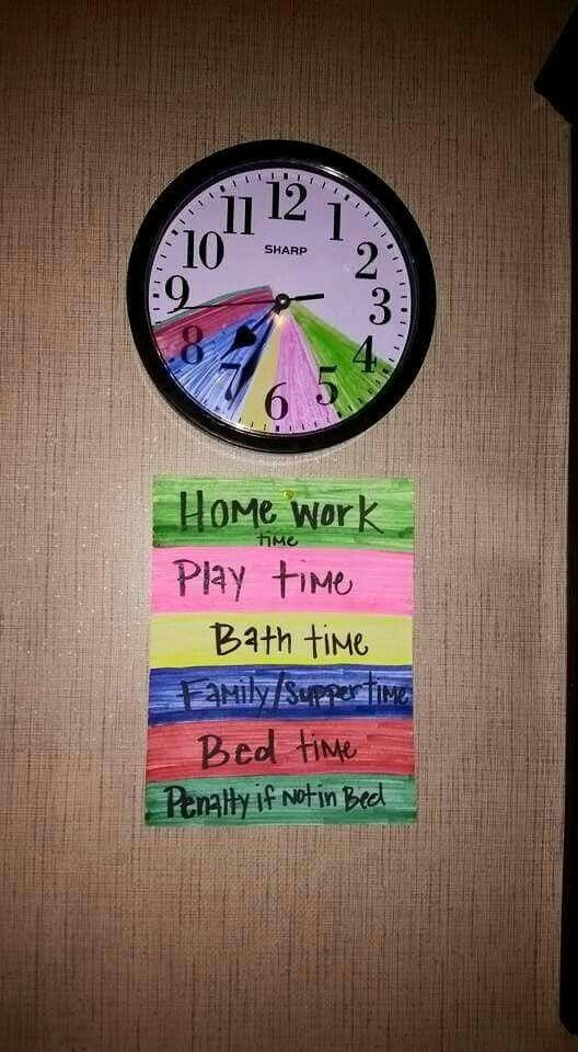 Magical Daily Routine clock | kids lunchboxes | Pinterest | Clock ...