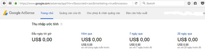 Cách nhận biết tài khoản Google Adsense có PIN hay chưa