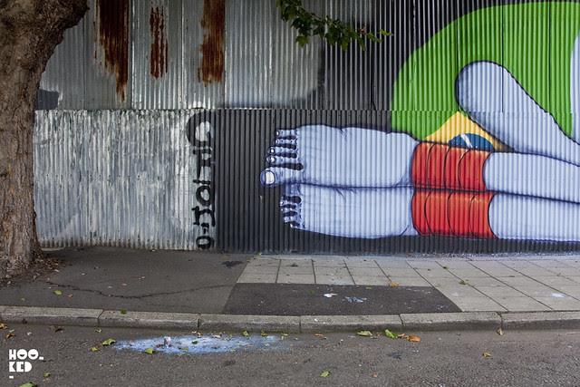 Brazilian Street Artist Cranio's London Mural