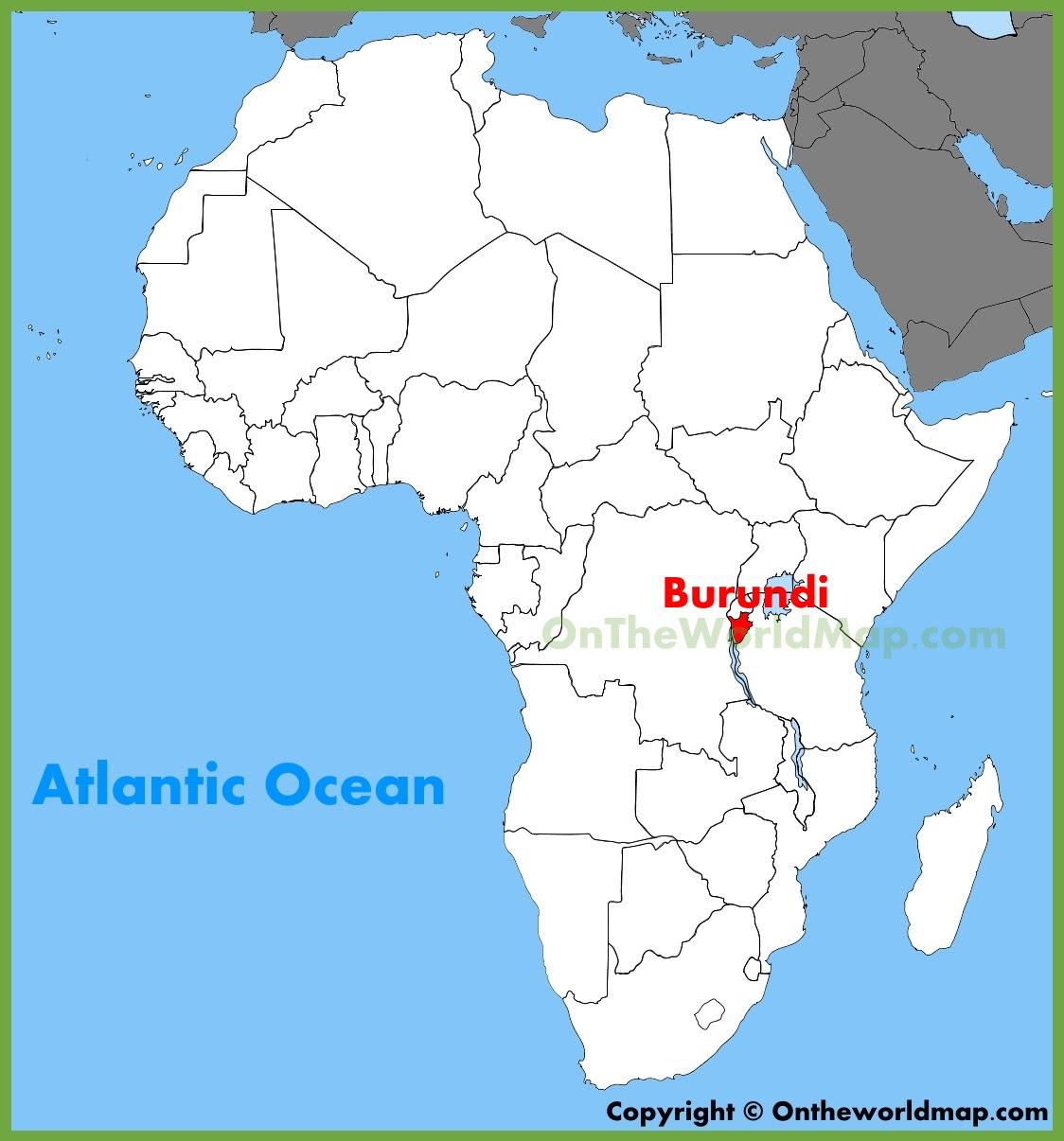 Burundi On The Map Of Africa Jungle Maps: Map Of Africa Burundi