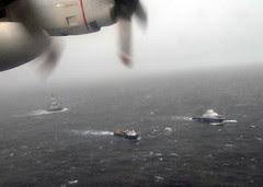 A Coast Guard HC-130 Hercules aircraft