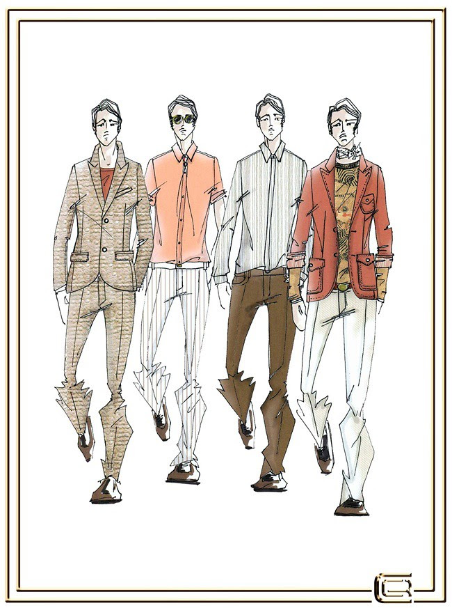 5 CLASS Roberto Cavalli Menswear SS2013