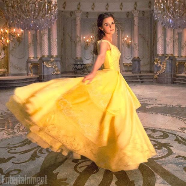 Emma Watson caracterizada para o filme A Bela e a Fera (Foto: Reprodução/Entertainment Weekly)