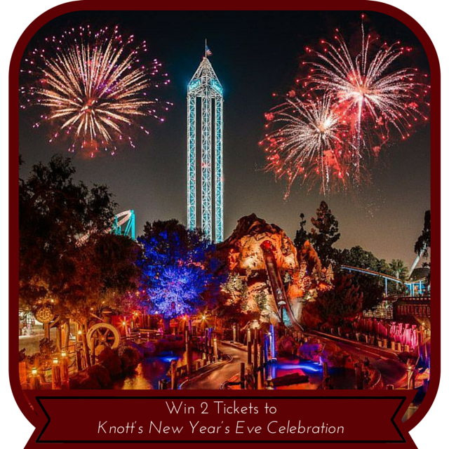 Enter to win the  Knott's New Year's Eve Celebration Giveaway. Ends 12/22.