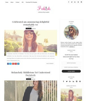 Fabish Blogger Templates