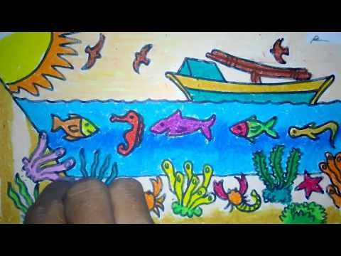 Teknik Mewarnai Dengan Crayon Greebel Mewarnai H