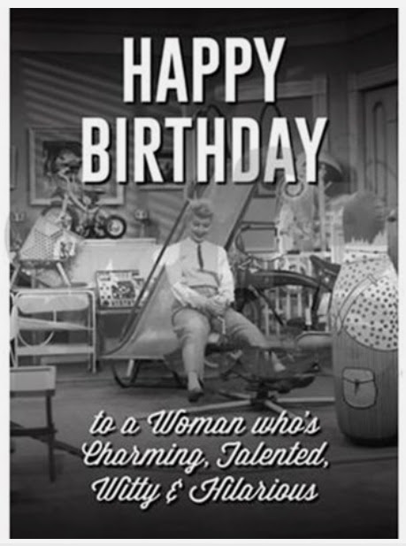 I Love Lucy Happy Birthday Greeting Card Lucystorecom