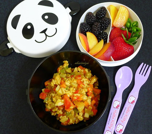 Panda Curry Bento Bowl by sherimiya ♥