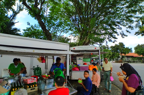 Roadside cendol stall