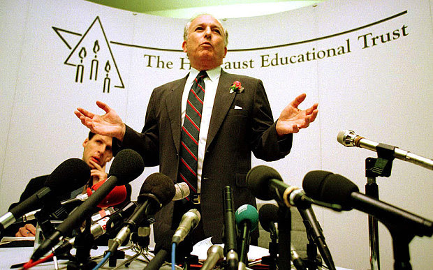 Lord Greville Janner-The Chairman of the Holocaust Educational Trust..