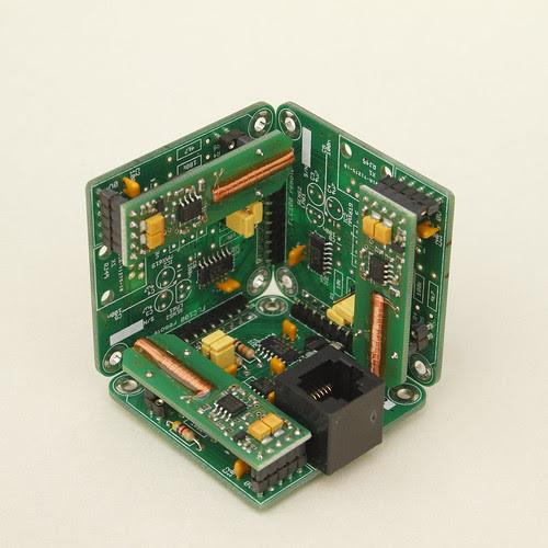 Three-axis magnetometer sensor unit