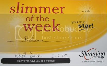 Sw Slimmer of the Week cetificate 02 March 09