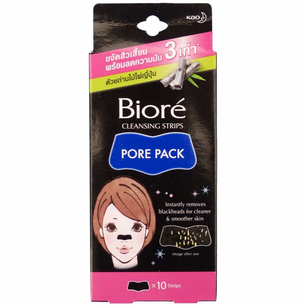 Biore Cleansing Nose Strips Pore Pack With Bamboo Charcoal ...