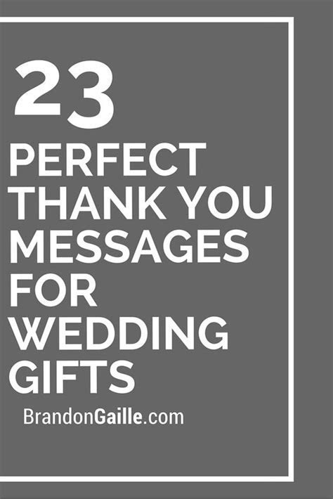 23 Perfect Thank You Messages for Wedding Gifts   Wedding