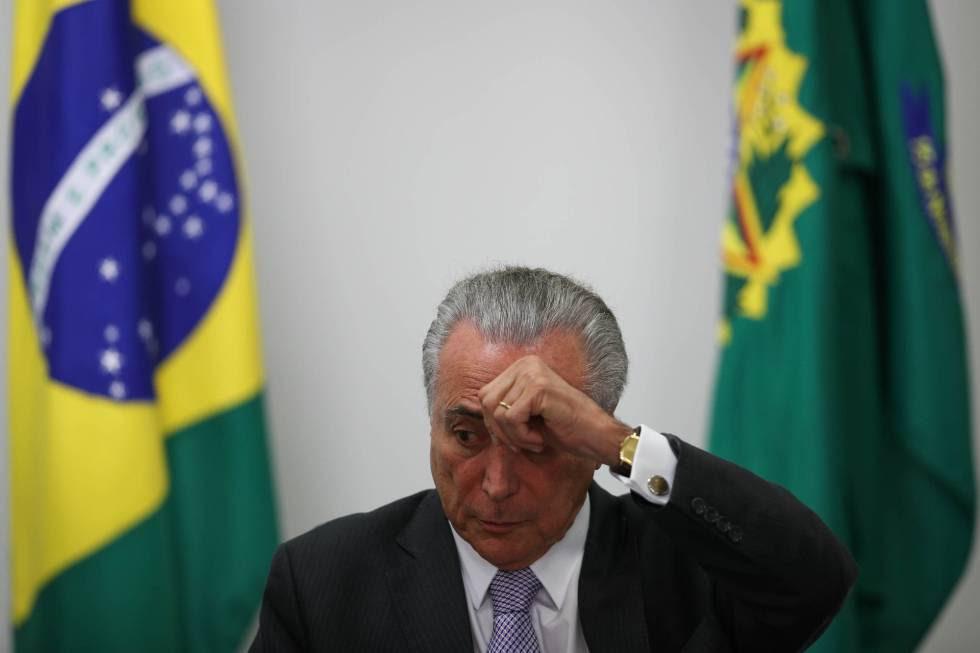 Temer em Brasília.