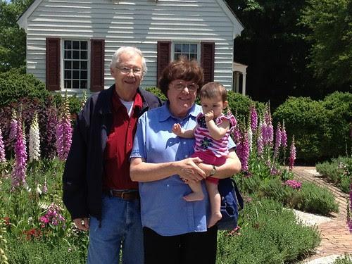 Grandpa and Grammy with Amelia