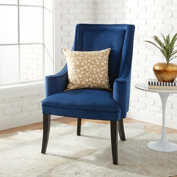 Murano Navy Accent Chair Free Shipping Today Overstock 17248136 623f48f24fac8