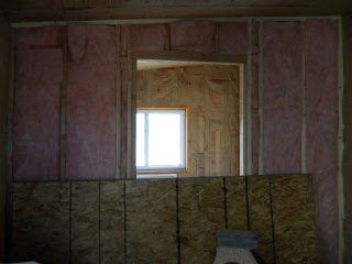 Summer Kitchen New cross wall Added and Insulated--View from Piano Room