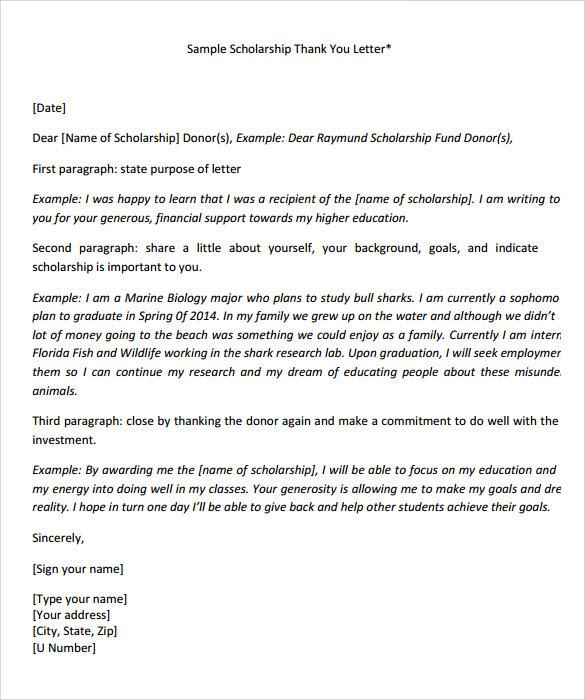 Cover Letter For Scholarship Application Pdf - Sample ...