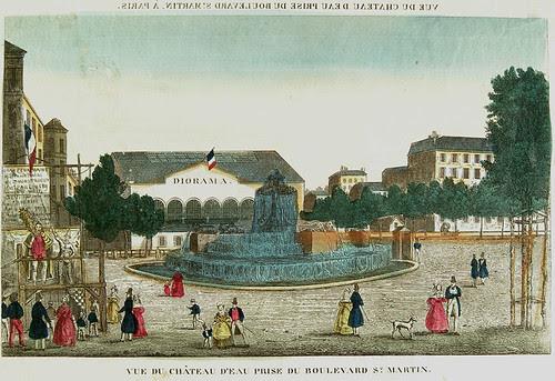 Vue d'Optique of Daguerre's Diorama in Paris - c. 1820 by Photo_History