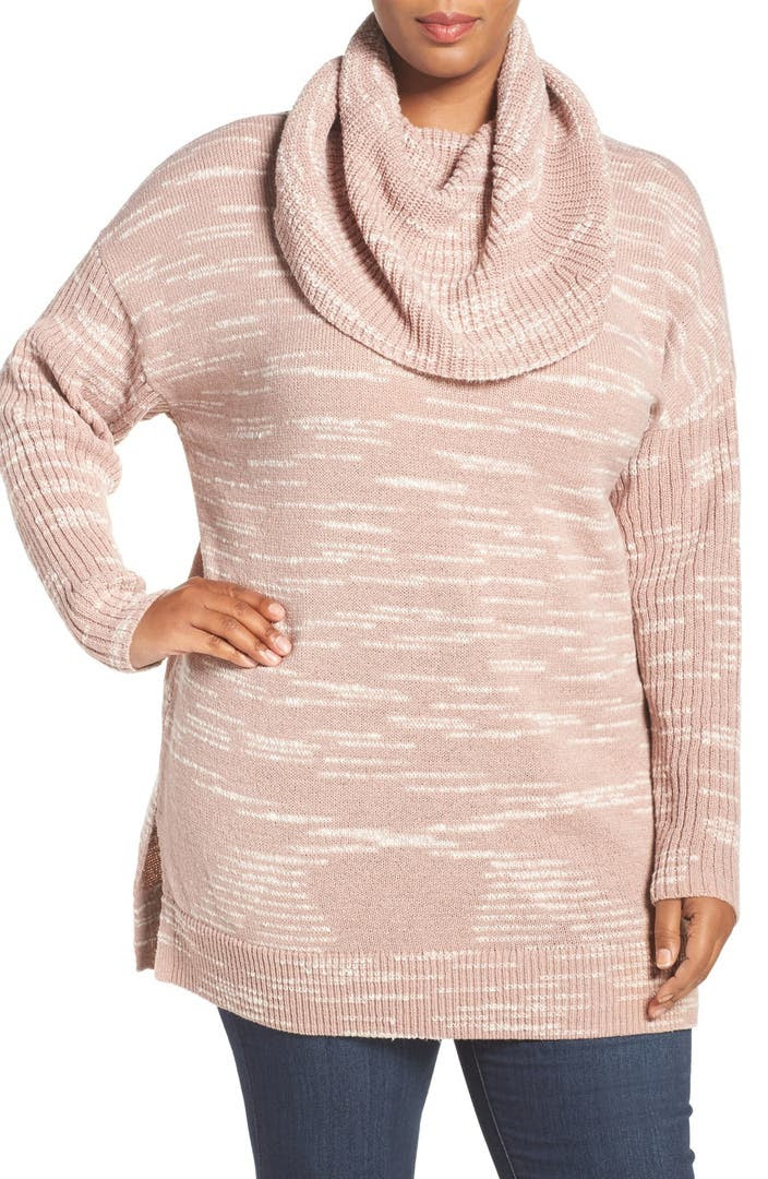 Sweaters cowl neck ladies plus size navy for