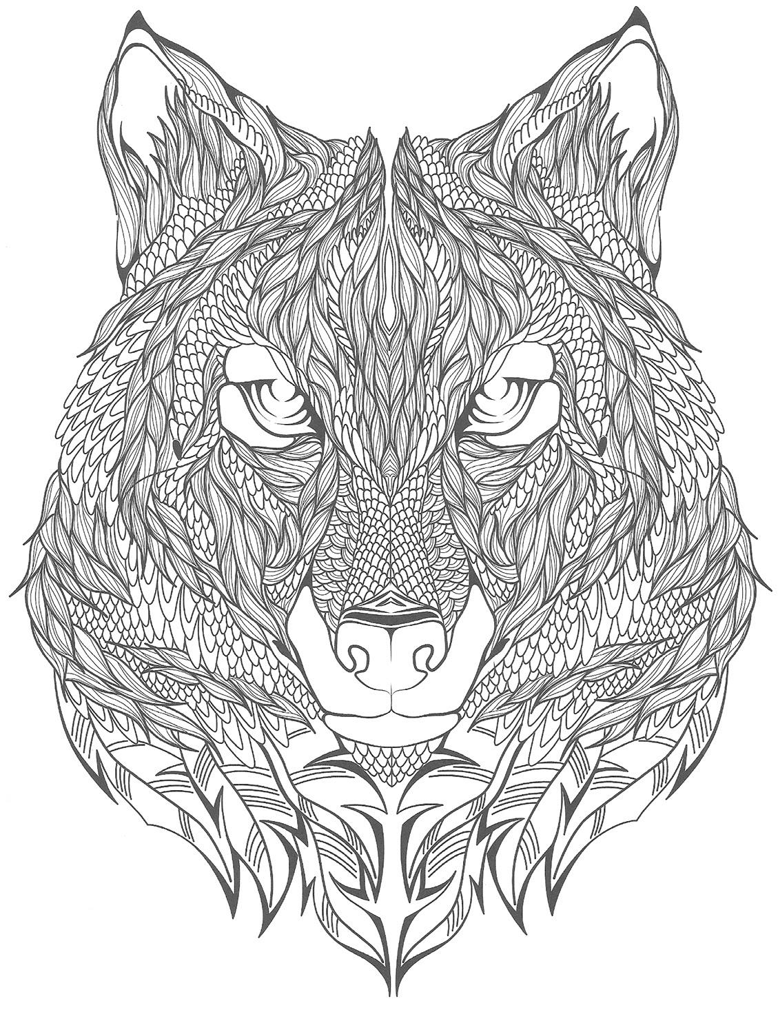 10 Coloriage De Loup Mandala Imprimer Et Obtenir Une