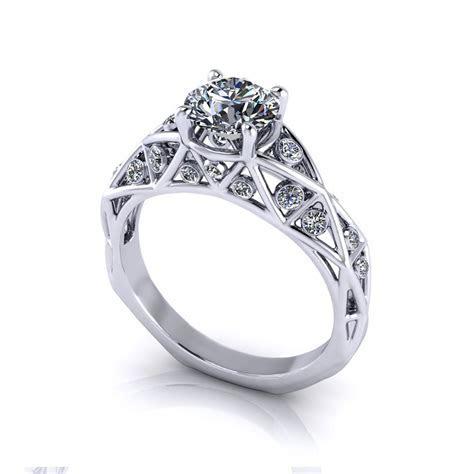 Geometric Diamond Engagement Ring   Jewelry Designs