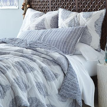 Hand-Blocked Medallion Quilt + Shams #westelm