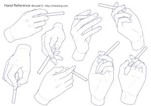 手のイラスト資料集 Hand Reference Hato King