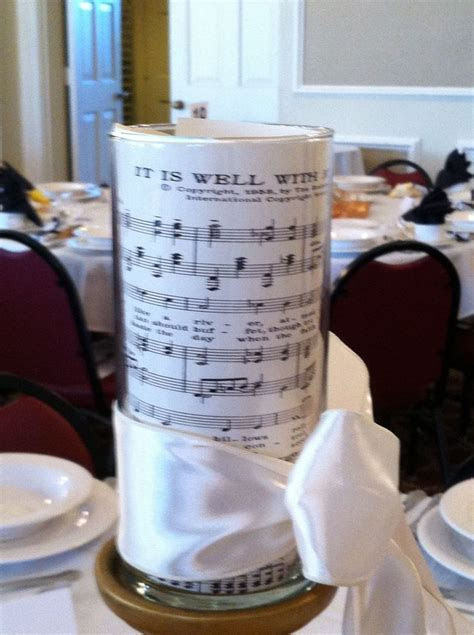 Music themed tablescape at the fall 2012 Women's Auxiliary