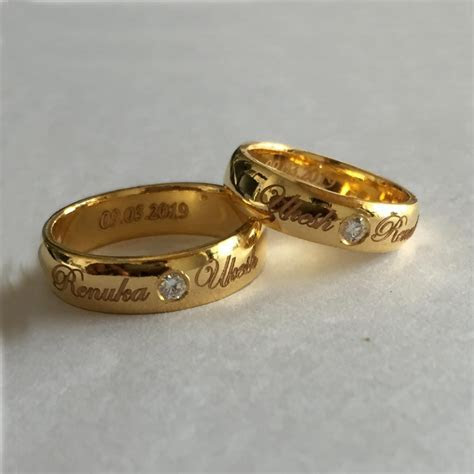 Custom Platinum Rings, Gold Rings, Name Engraved Platinum