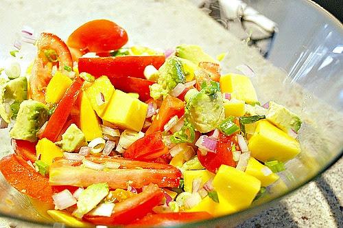 Mango & Tomato Salad
