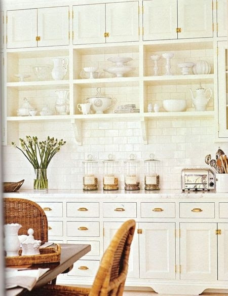 icebox hardware in gold brass french country kitchen