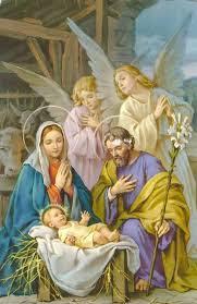 All-white nativity scene