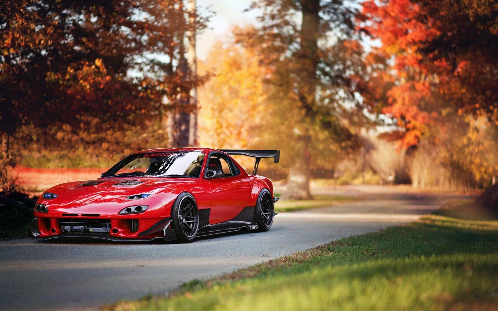 Mazda RX7 Car Red Tuning wallpaper  1680x1050  17341