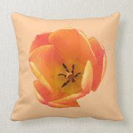 Orange Tulip Pillow throwpillow