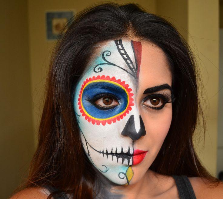 Pictures Of Sugar Skull Makeup Bottom Half Face Wwwkidskunstinfo