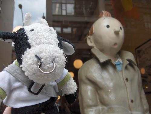 Me an' my pal Tintin the boy reporter