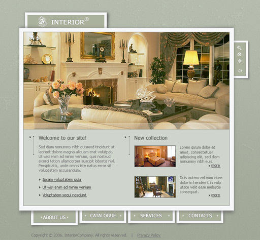 Interior Design Store Website Template | PoweredTemplate.