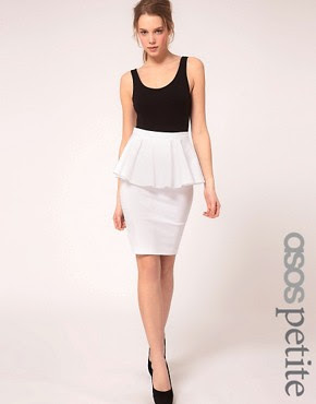 Image 1 ofASOS PETITE Exclusive Peplum Waist Skirt
