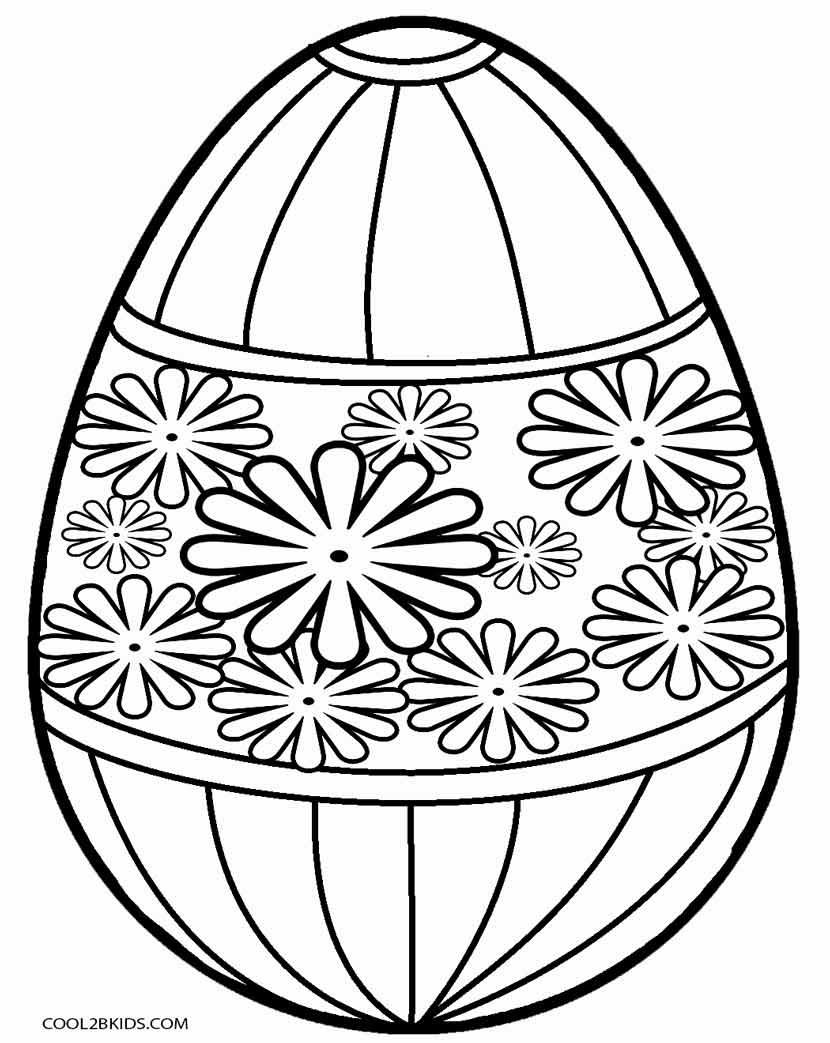Easter Egg Color Sheets - ClipArt Best