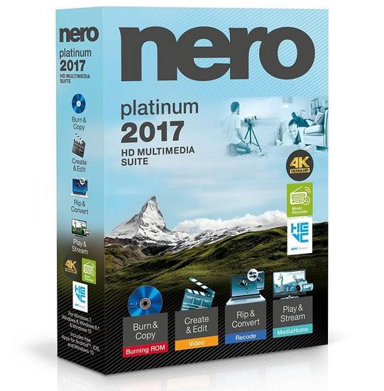 Nero 2017 Platinum นอนน้อยโปรแกรมฟรี