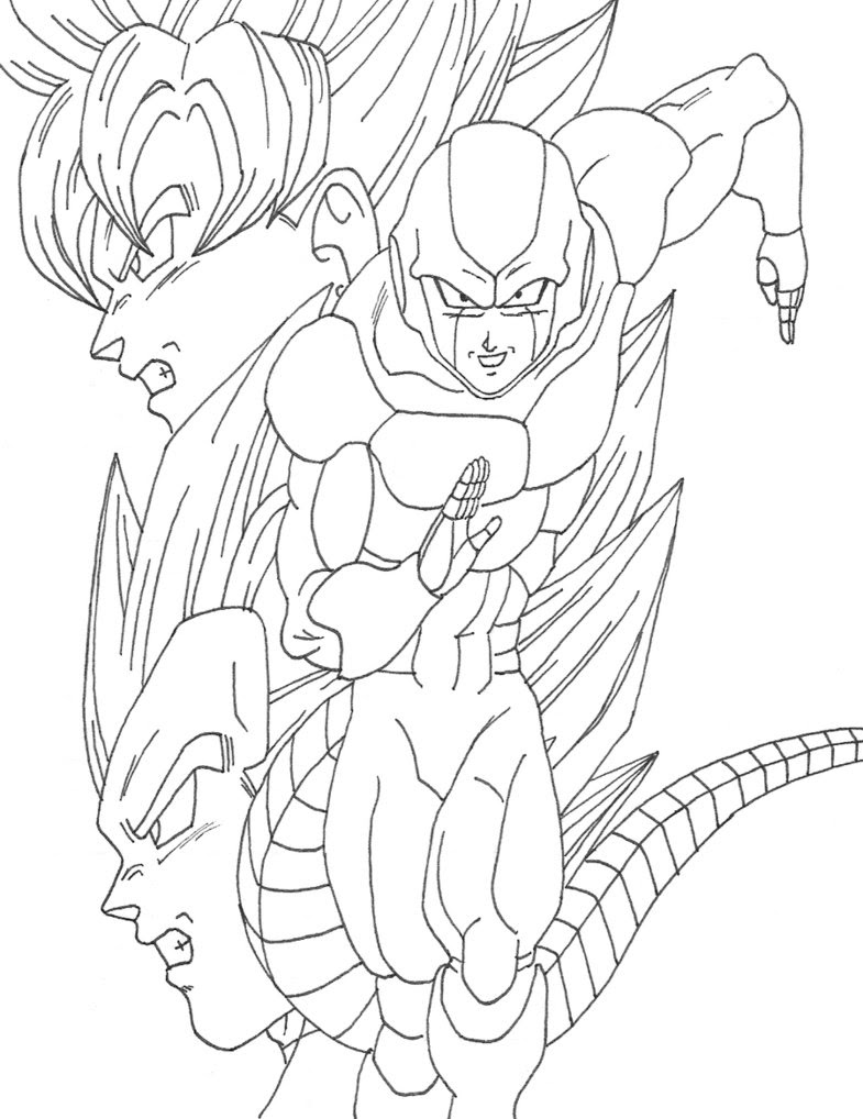 Goku Vs Vegeta Drawing At Getdrawingscom Free For Personal Use