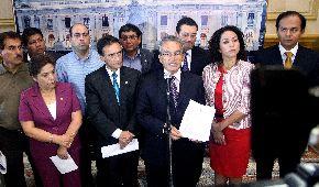 Bancada fujimorista presenta moción de interpelación contra el ministro del Interior, Wilfredo Pedraza. Foto: Congreso de la República