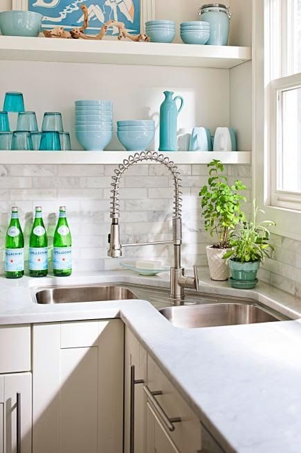 Trends For Kitchen Open Shelving Corner pictures