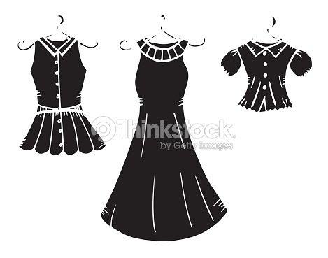 De Las Mujeres Vestido Ropa Dibujo Ilustración Vestido Ropa Sombra