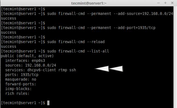 Open Port in CentOS 7