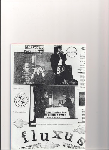 Dobricia Kamperelic - FLUXUS performance by Rorica & me(1985.)published in mag.LA BOHEME ART by jim leftwich